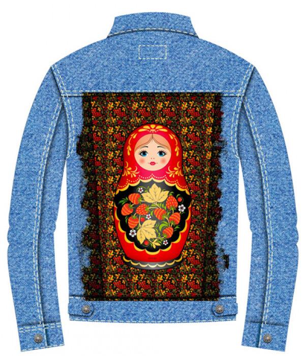 Купить Джинсовая куртка Матрешка
