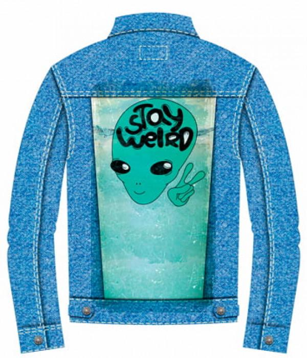 Купить Джинсовая куртка Инопланетянин портрет