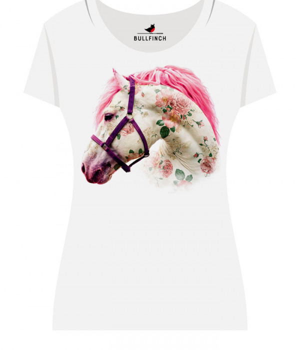Купить Футболка Цветочная лошадь