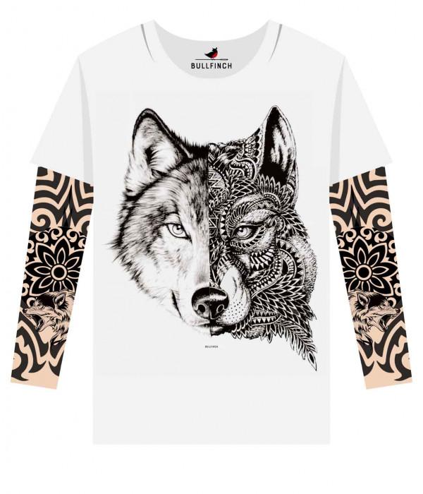 Купить Лонгслив Двуликий волк рукав орнамент 1