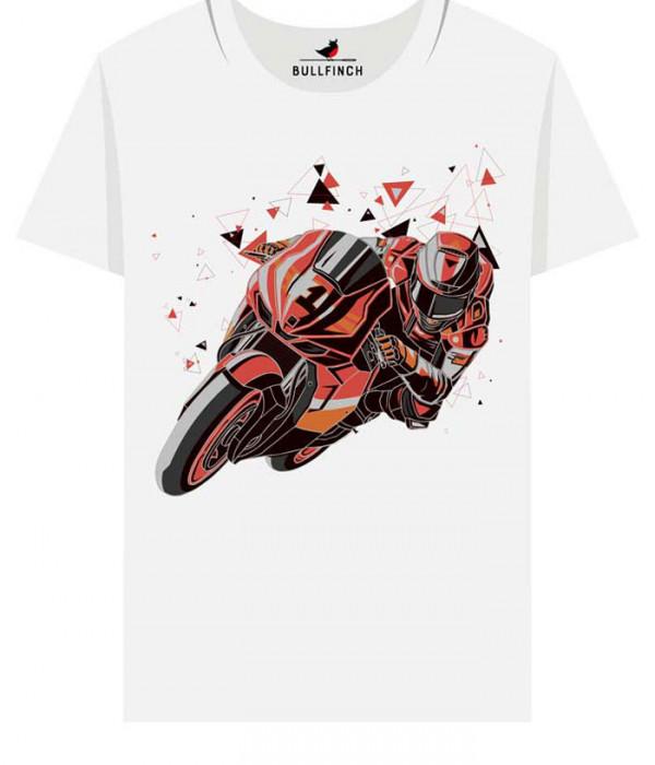Купить Футболка Оранжевый мотоциклист