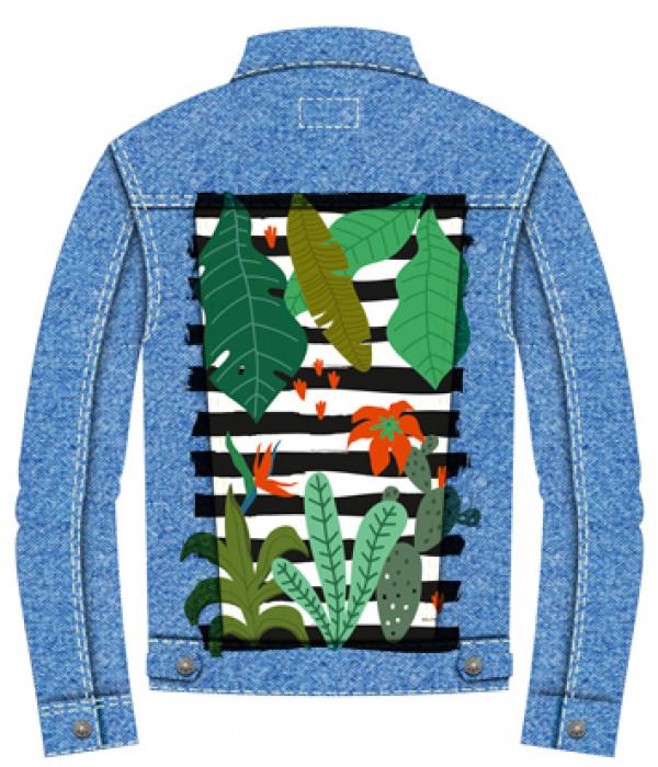Купить Джинсовая куртка Папоротники