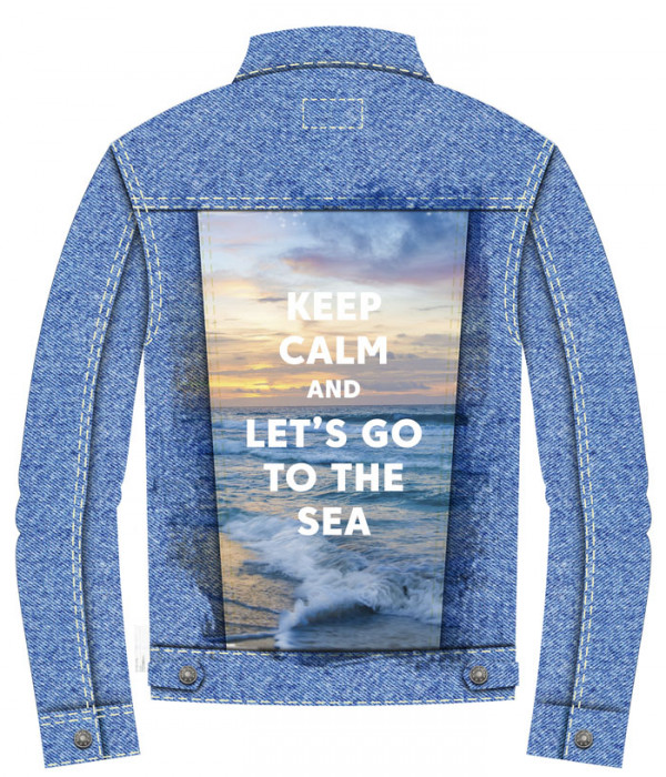 Купить Джинсовая куртка Keep Calm and Go to the Sea