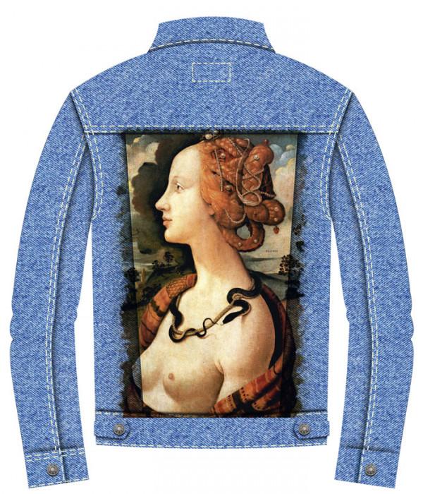 Купить Джинсовая куртка Портрет Симонетты Веспуччи Боттичелли