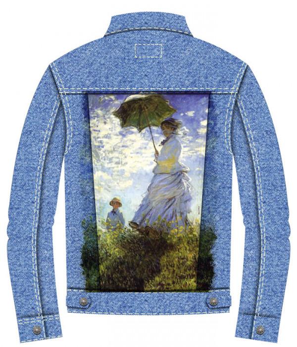 Купить Джинсовая куртка Клод Моне. Дама с зонтиком