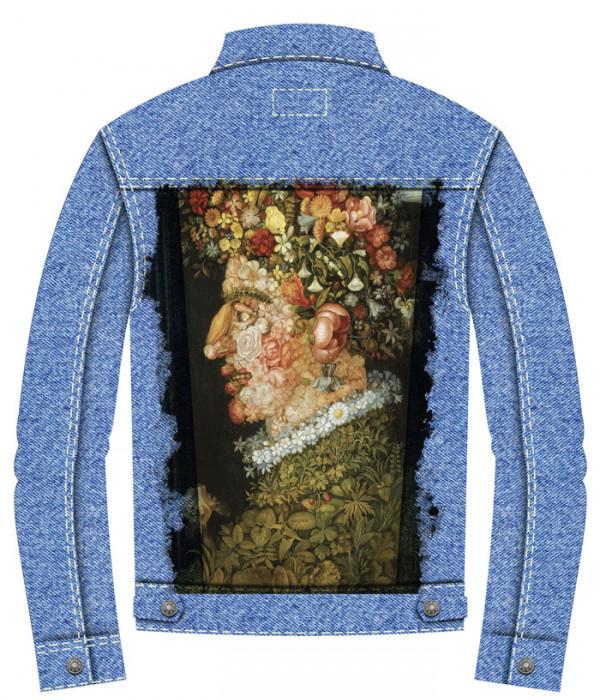 Купить Джинсовая куртка Арчимбольдо. Весна