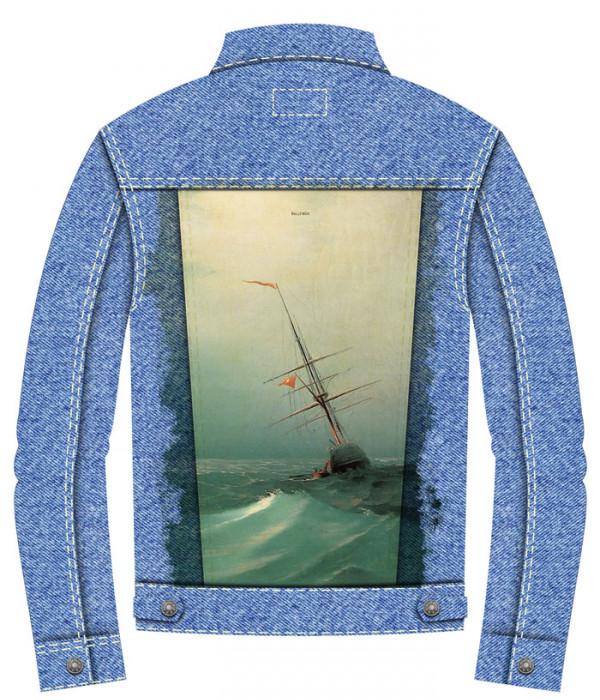 Купить Джинсовая куртка Айвазовский. Голубая волна