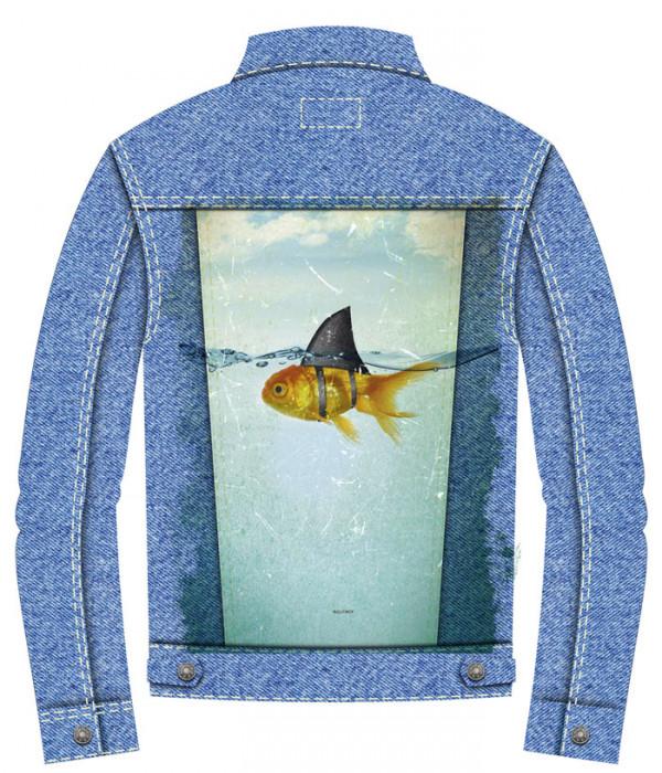 Купить Джинсовая куртка Грозная рыбка