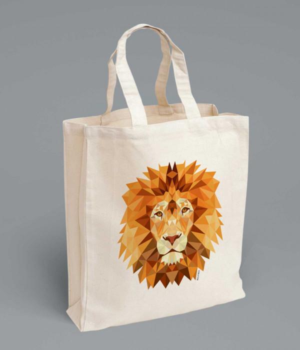 Купить Сумка Геометрический лев