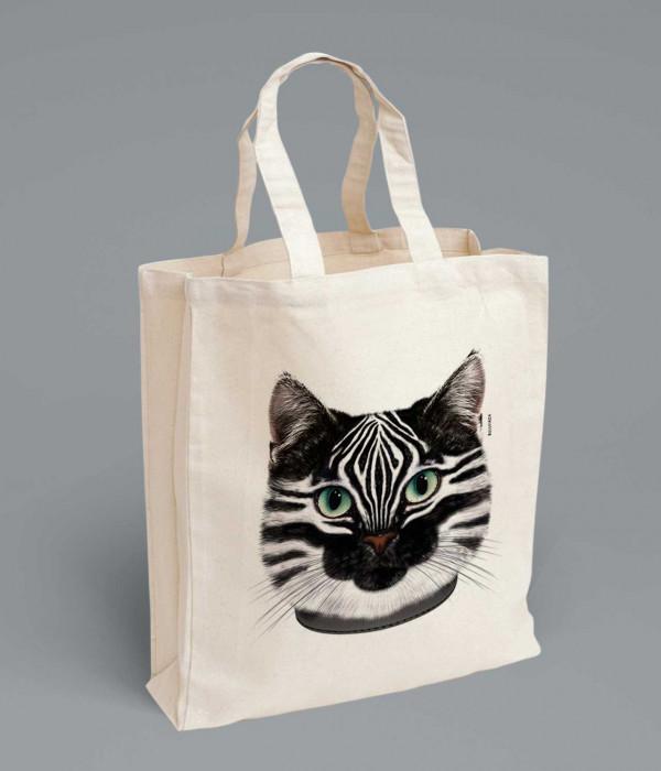 Купить Сумка Кошка в шкуре зебры ЗЕБРОКОТ
