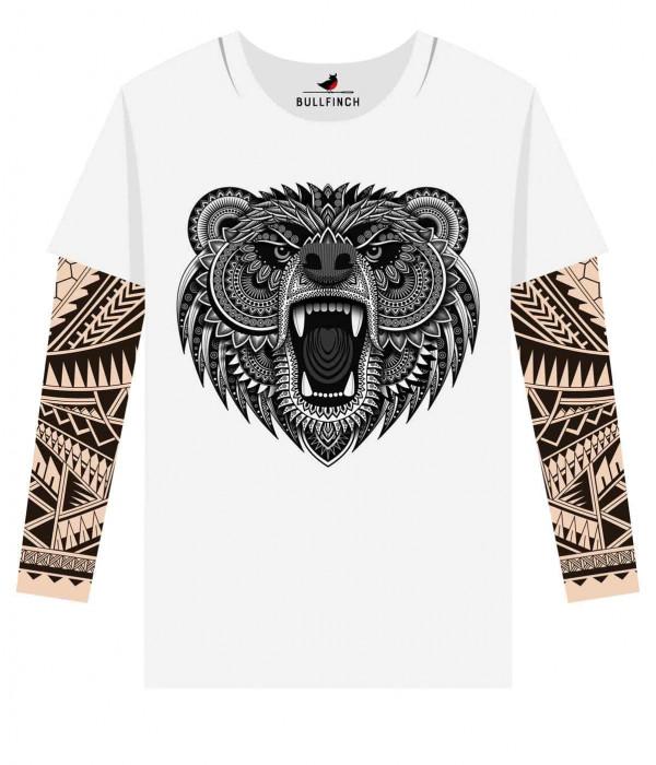 Купить Лонгслив Медведь орнамент 1