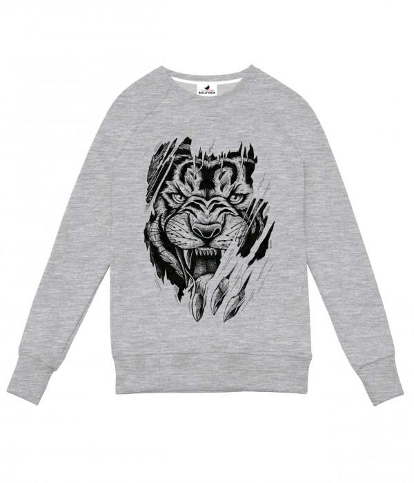 Купить Свитшот Тигр ч/б Когти