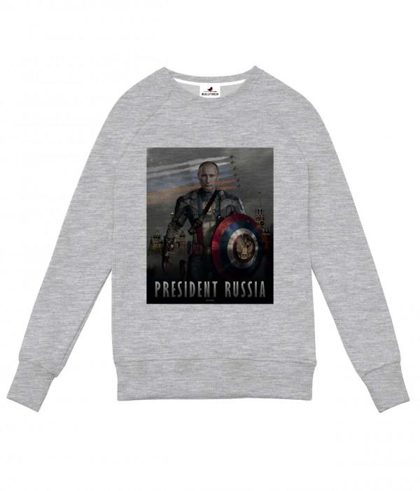Купить Свитшот Putin: Captain Russia / Путин: Капитан Россия